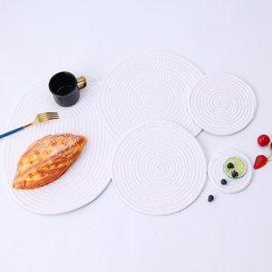 Japon Dokuma Masa Mat Kalınlaşmış Pamuk Halat Isıya Dayanıklı İzolasyon Sadelik İçecek Masa Mats HHA1158 Yemek Altlıkları Pot Pads