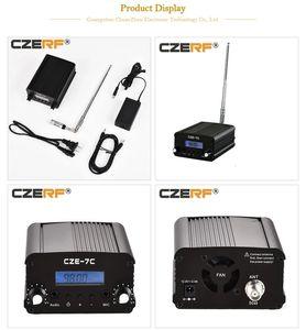 Freeshipping CZE-7C 1W 7W Wireless FM Transmitter PLL Stereo mini radio broadcast 76-108MHz Adjustable