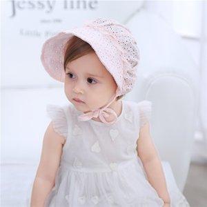 QuY7n Meiyan fresca de verão baby baby chapéu da princesa puro algodão cap chapéu velho Palácio cap Lace pneu pneu um ano