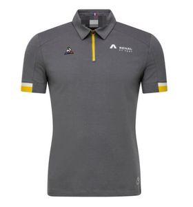 F1 Renault Team Racing Suit Short Sleeve Lapel Polo Shirt T-shirt Car Clothes Work Machine Off-road Suit Custom