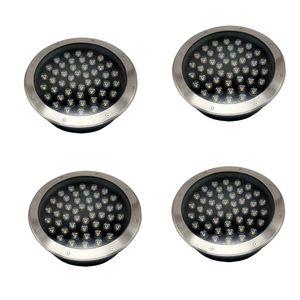 48W LED underground light outdoor landscape lighting recessed floor inground yard path underground waterproof lights Pack of 4