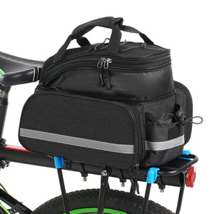 Bike Waterproof Seat Pannier Pack Dog Carrier Bag Luggage Outdoor 25L Bicycle Pannier Bag Rear Rack Trunk With Rain Cover