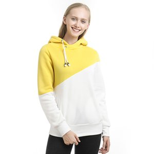 Patchwork Hoodies Sweatshirts Women Casual Pullover Tops Jumper Hooded Sweatshirt Female Hoodie Sudadera Plus Size S-2XL
