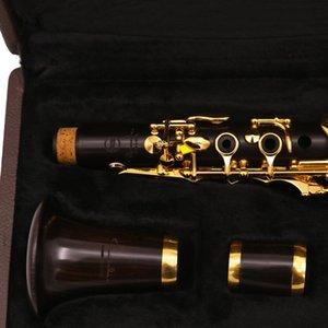 Professional Eb 18 Keys Clarinet Ebony wood Clarinet gold plated key E flat Sweet Tone
