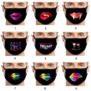 Moda máscara personalizada engraçado masque natal decorações de desenhos animados máscaras adulto mascherina algodão reutilizável máscara lavável DHL livre