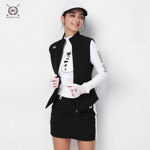Women Golf Vest Sleeveless Cotton Thickening Jackets Cycling Running Jerseys Sports Vest Gilet Autumn Winter Clothes 18068 pe45#