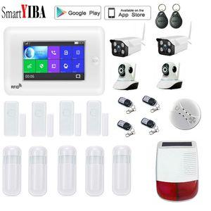 SmartYIBA Popular WIFI 3G Home Burglar Alarm System Video IP Camera Home Security APP Remote Control Wireless Smoke Sensor