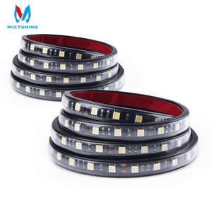 MICTUNING 3 Parlaklık Düzeyleri ile 2pcs 60 İnç Beyaz LED Kargo Kamyon Yatak Işık Şerit Su geçirmez On-Off Dimming Anahtarı Yükseltme
