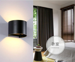 Modern 6W 12W IP65 COB LED Wall Light Up Down Sconce Lamp Sala Quarto Exterior Luz