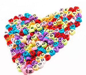 Heart Shaped Loose Beads Acrylic Beads Letter Beads Heart Shaped Childlike Heart Ms. Cute Children s Jewelry Accessories Bracelet11