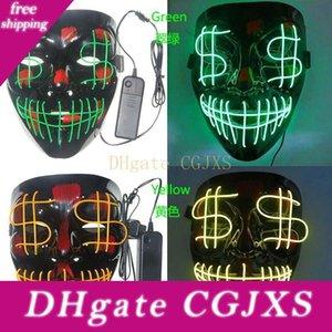 Grimace Ночь Хэллоуина доллар Рождество Leading Bloody Party El Line Club Bar Dj Light Mask Full Cover Led