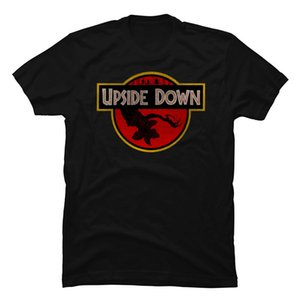Al revés Demogorgón Parque Jurásico hombres camisetas Extraño cosas Dustin Once Montauk Negro T clásico para hombres Ropa estéticos