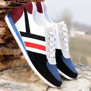 2020 new Men canvas shoes fashion running shoes Breathable mesh casual shoes wholesale