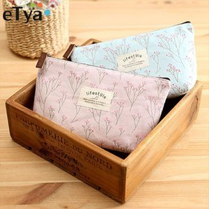 eTya Portable Flowers Travel Cosmetic Bag Pencil Makeup Case Pouch Women Toiletry Wash Organizer Bag Female Samll Coin Bags