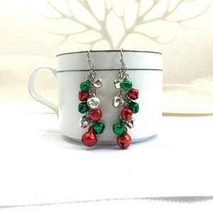 Women Christmas Bells Tassel Earrings Drop Earrings Jingle Bell Dangle Earring Christmas Ball Eardrop for Girl Cute Jewelry Xmas Party Gift