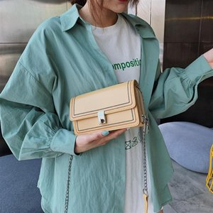 Casual PU Leather Small Chain Crossbody Satchel BagsWomen Rotating Button Solid Color Shoulder Messenger Handbags Phone Lipstict