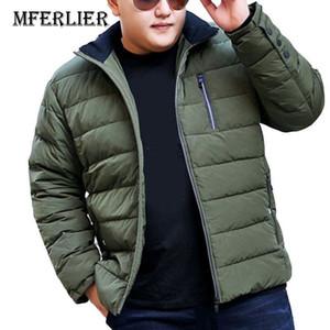 MFERLIER Autumn Winter thick jackets 5XL 6XL 7XL 8XL 9XL 10XL large size keep warm long sleeve winter coats 3 colors
