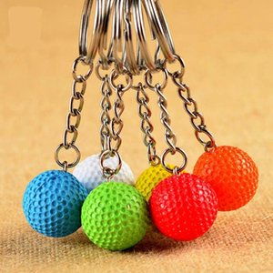 100pcs Lot Golf Key Chains Ball Multiple Color Casual Sporty Style Men Women Teenager Keyring Keychain Accessories