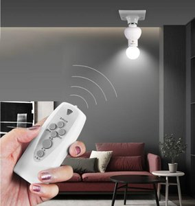 Infrared Wireless Remote Control Lamp Holder Dimmable Timer Bulb Cap Socket Lamp Base For Corridor Stairs Indoor Night Light