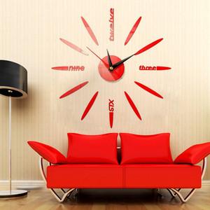Modern Wall Clock 3d Mirror Sticker Unique Watch Diy Decor Wall Clock Art Sticker Decal Home Modern Decoration
