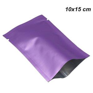 10x15cm 100pcs Lot Matte Purple Pure Mylar Foil Open Top Packing Pouch for Dried Nut Aluminum Foil Heat Seal Vacuum Food Storage Packing Bag