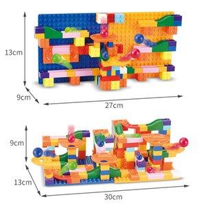Kid Side Building Block brinquedo Marble Correr tijolo Define pequeno tamanho do bloco brinquedo trilha de aprendizagem educativa Construção Set Brinquedos