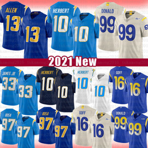 10 Justin Herbert 97 Joey Bosa 99 Aaron Donald Los Angeles