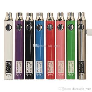 정통 UGO V III V3 650 900mAh EVOD 자아 (510)는 배터리 스피너 3S 배터리 대 마이크로 USB 충전 패스 스루 vape 배터리 8colors