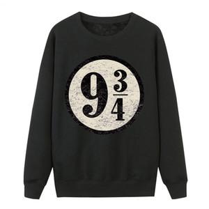 Plataforma 9-3 / 4 de Hogwarts de la plataforma de la vendimia suéter sudaderas con capucha Sudaderas, nueve y tres cuartos femeninos sudaderas con capucha