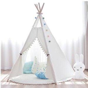 2020 새로운 YARD 인도 플레이 텐트 어린이 Teepee (북미 원주민들의 원추형 천막) 어린이 생일 선물 티피 텐트 아이 선물 천막 장난감 텐트 야외 놀이 작은 집
