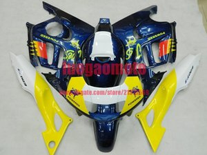Gifts ABS injection Motorcycle cowling yellow white blue bodywork fairings kit for Honda CBR600 1997 1998 CBR 600 F3 97 98 fairing kit+Tank
