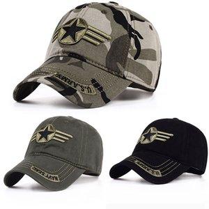 Охота Камуфляж Бейсболка Американский хлопок вышивка алфавит Повседневный Caps Мужчины Солдат Открытый Combat ВС Защита Шляпы GWD1984