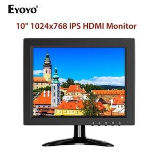 PC의 LCD 화면 4 Eyoyo 10 인치 IPS HD 1024 CCTV 보안 모니터 HDMI 소형 TV 컴퓨터 디스플레이 : 3 BNC HDMI VGA AV와