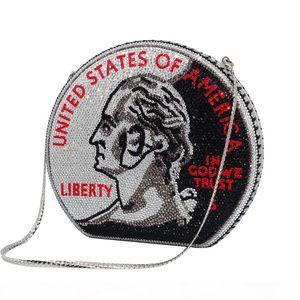US popular super sparkling full rhinestone diamonds liberty letter evening bag party handbags for woman ladies fashion luxury designer