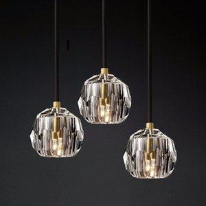 Modern Crystal Pendant Lights American Luxury Gold Hanglamp For Bedroom Dining Room Bar Decor Home Loft Led Luminaire Suspension
