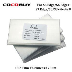 Бесплатная доставка Novecl 50шт 175um ОСА клей Optical Clear Клей для Samsung S8 плюс S8 S7 край S6edge LCD Сенсорное стекло объектива пленки