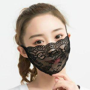 Kadınlar Yeni Yıkanabilir Nakış Dantel Yüz Ağız Yüz Kapak Rahat Kız Siyah Parti Maskesi Maske Siyah / Beyaz Parti Maskeler HHF965 Boom Maske