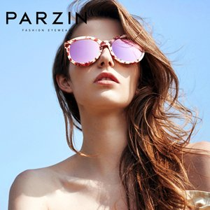 PARZIN Женщины поляризованные очки Классический Большие Цвета Frame объектива Shield UV400 Мода ретро солнцезащитные очки высокого качества