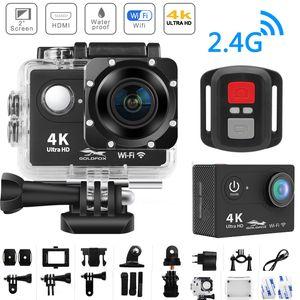 "Action Camera 4K Ultra HD WiFi 2.0"" 170D 12MP Go Waterproof Pro Sport Camera 30m Underwater Helmet Video Recording Camera"