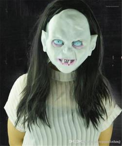 Sadako Horror Masks With Hair Thriller Rotocast Unisex Masks Halloween Witch Ghost Costume Accessories Vendetta