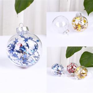 Natal decorações acessórios de artesanato de plástico criativas pequenos objetos transparentes ornamentos interiores esféricas coloridas decorativas Christma