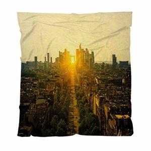 홈 베드룸 럭셔리 침대 담요, 승리 파리의 아크에서 볼 수있는 라 데팡스 (La Defense), 던져 담요 소프트 마이크로 화이버 침대 소프트 담요