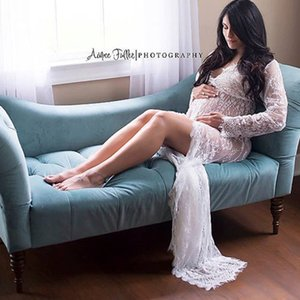 New Maternity Photography Props Pregnancy Clothes Maxi Maternity photography Dress Lace Dress For Pregnancy woman
