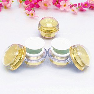 5g gold   silver Cosmetic Cream Jars Convenient Portable Cosmetic Container Top Quality Acrylic MakeUp Bottles