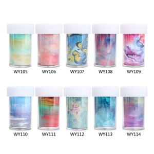 1 PCS 4*100cm Nail Art Transfer foil Stickers 3D Marble Series Nail Foils Sticker Starry Sky DIY Decal Paper for DIY Nails Art