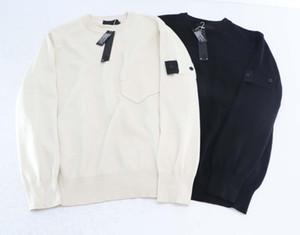 남성 망에 대한 zhanxiaosi 및 hanfei001 2020 대부분의 브랜드는 남성 폴로 넥 풀오버 편지 검은 색과 흰색 티 두 가지 색상 아시아 크기 스웨터