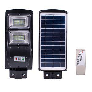 60W 120 LED solar sensor de luz al aire libre con control de luz y de radar incorporado Negro Sensor para el Parque, Jardín, Patio, Calle,