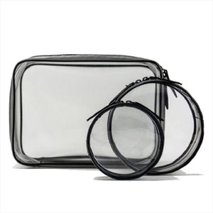 Cosmetic Bags Transparent Cosmetic Bag Varieties Sizes Girl Makeup Bags Zipper Pouch Clear; Large,Medium,Small,Mini; Circle, Square,