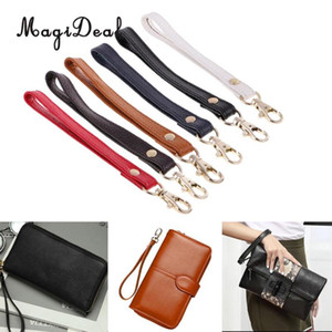 MagiDeal Simple Strap Design Genuine Leather Wristlet Wrist Bag Strap Replacements For Clutch Purse Handbags Parts