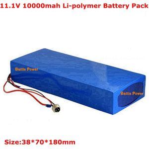12v battery pack large capacity 10ah lipo 11.1v electric skateboard lithium ion 35C RC
